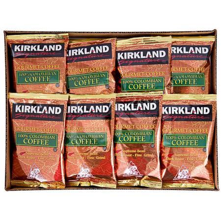 柯克兰/COSTOC 100%深度烘培哥伦比亚咖啡粉 42小袋
