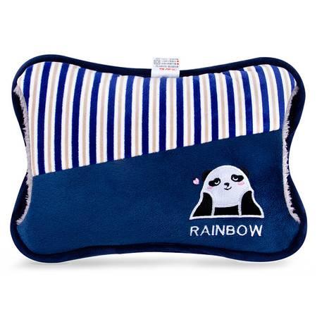 彩虹 安全防爆电热暖手宝热水袋花色随机绒面挂套328