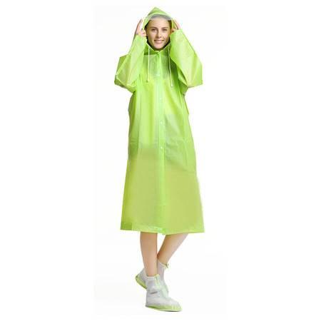 希途citoor户外徒步长款带背包位加厚磨砂eva透明雨披成人连体雨衣