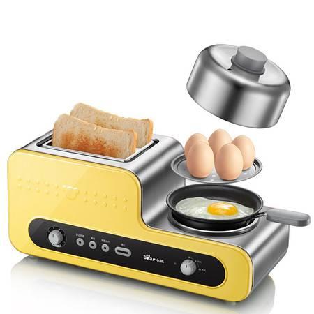 小熊/BEAR 烤面包机全自动家用多士炉不锈钢吐司加热机三明治机带煎锅早餐机DSL-A02V1