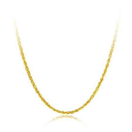 周大福 水波链足金黄金项链F173873 约3.5g/45cm