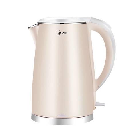 美的/MIDEA 1.5L电水壶 防烫家用烧水壶304不锈钢电热水壶 HJ1505a