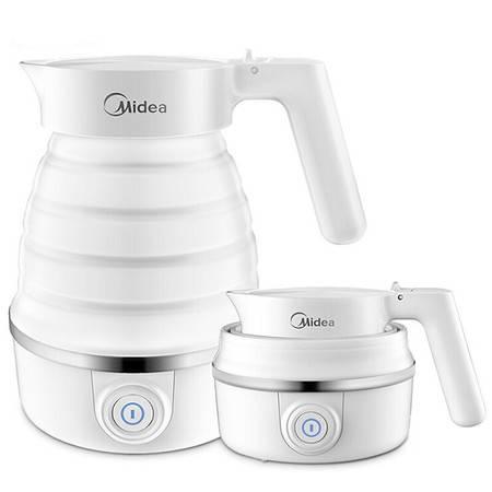 美的/MIDEA 电水壶 食品级硅胶 折叠水壶 烧水壶 电热水壶 旅行携带SH06Simple101