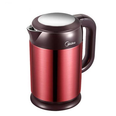 美的/MIDEA电热水壶烧水壶热水壶电水壶1.7L大容量304不锈钢 HJ1708a