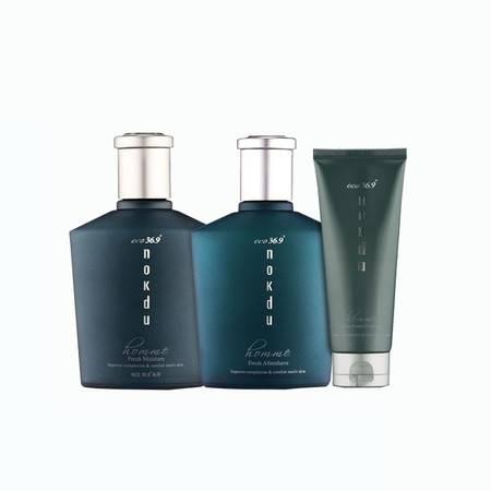 高丽雅娜 nokdu绿豆绅士礼盒装护肤品醒肤水乳套装2件套ZMGLYNJ29