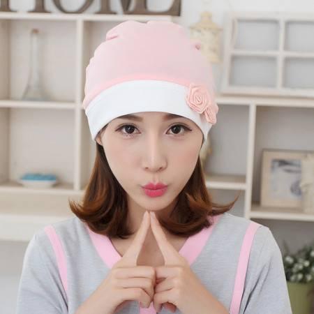 孕想事成  韩版玫瑰月子帽春夏季产后月子孕妇帽产妇用品帽子