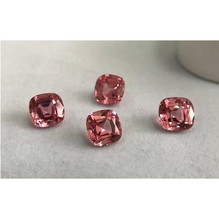 晶兮 帕帕拉恰1号粉色蓝宝石 枕形 裸石 实验室培育宝石 代客镶嵌
