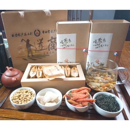 老俵情 莲花县盐姜豆子茶     礼盒装(16袋)