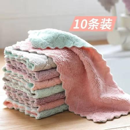 【10条装】不掉毛不沾油抹布吸水厨房洗碗擦桌擦手巾 抹布 百洁布清洁巾