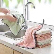 【10条装】加厚洗碗布不沾油厨房专用清洁洗碗巾百洁布抹布毛巾洗碗布吸水