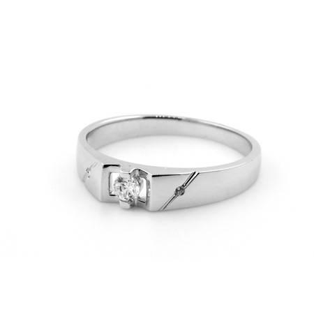 倩芭蕾 18K金钻石戒指 共约0.15ct/ G/ VS2-SI1