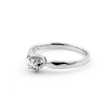 倩芭蕾 18K金钻石戒指 共约0.11ct/ G/ VS2-SI1