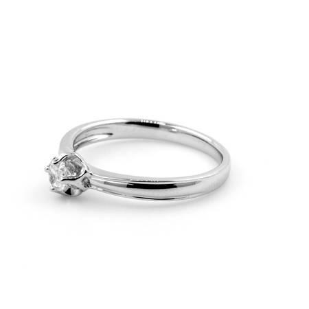 倩芭蕾 18K金钻石戒指 共约0.1ct/ G/ VS2-SI1