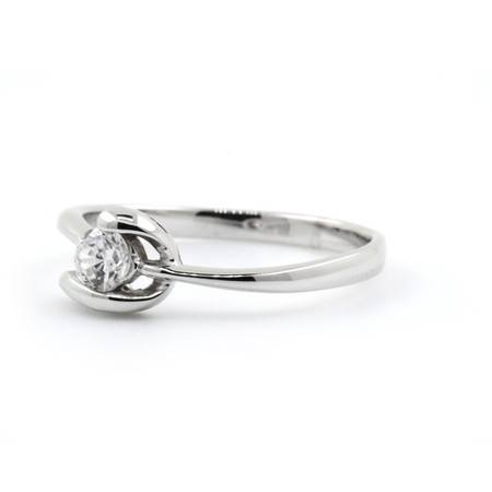 倩芭蕾 18K金钻石戒指 共约0.17ct/ G/ VS2-SI1