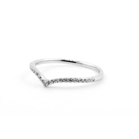 倩芭蕾 18K金钻石戒指 共约0.14ct/ G/ VS2-SI1