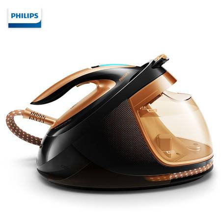 飞利浦/PHILIPS智能增压蒸汽电熨斗 压力式手持顺滑底板家用蒸汽挂烫机熨衣机GC9683/88