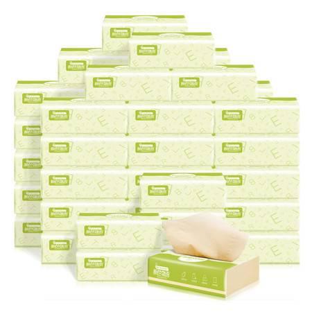 良布 原色物语系列40包本色竹浆抽纸,餐巾面巾纸整箱实惠装