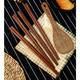 达乐丰 红檀筷 鸡翅木筷子  鸡翅木饭勺筷子礼盒套装(10双筷子+1个饭勺)