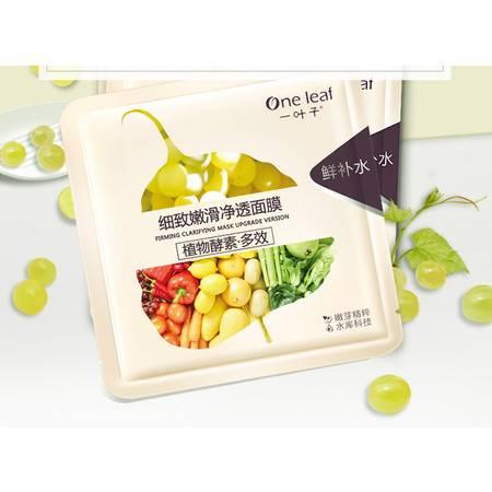 【爆款合计10片】一叶子植物酵素·多效 细致嫩滑净透面膜25ml