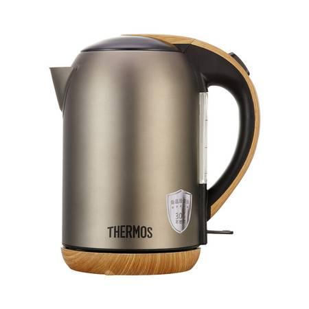 膳魔师/THERMOS 电热水壶1.7L烧水壶防烫带刻度防干烧EHA-1313A-B