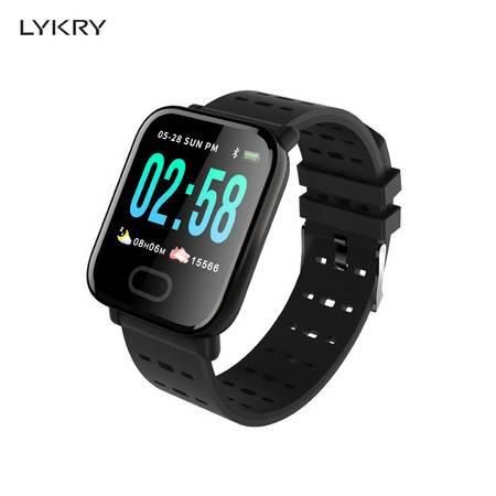 LYKRY智能手环全触控彩屏运动手环心率血压检测睡眠监测男学手环M20
