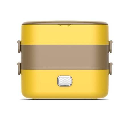 领锐 便携式电热饭盒插电保温饭盒自动蒸煮加热饭菜锅带饭蒸饭器自热煮饭神器双层XB-EC05A