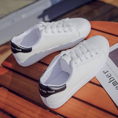 【919】2020新款春秋季小白鞋女百搭韩版学生平底系带基础白鞋夏季透气板鞋
