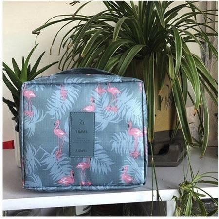 便携旅行化妆包韩版学生大容量化妆品收纳盒手提包随身洗漱包
