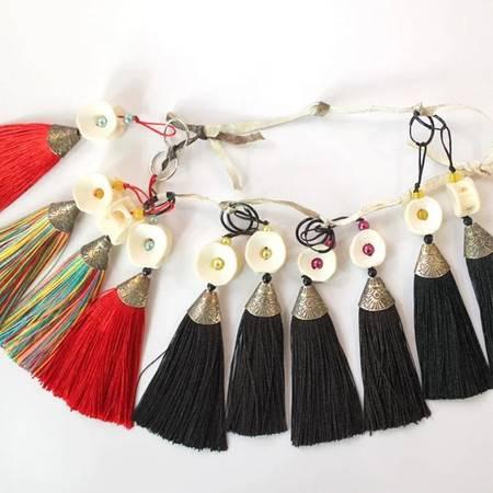 赫哲族传统手工艺品鱼骨耳坠,1对/份,颜色随机,全国包邮(新疆青海西藏除外)