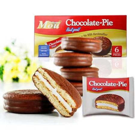 俄罗斯 喜爱巧克力味蛋糕6枚/盒,全国包邮(新疆、清华、西藏除外)