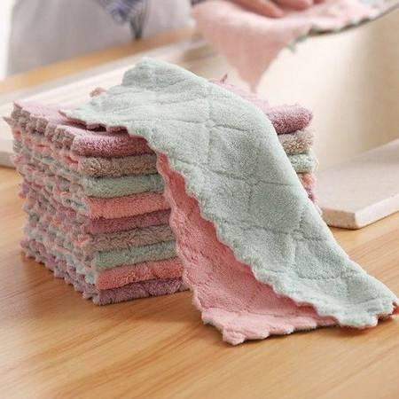 (10条装)不沾油抹布厨房吸水擦桌擦碗不掉毛洗碗布巾擦手巾百洁布巾清洁巾