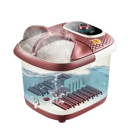 迪利浦 SY-881XZ足浴盆电加热熏蒸泡一体洗泡脚盆16滚轮足底脚动按摩足疗机  有气泡熏蒸款