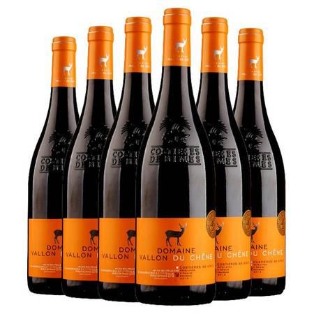 法国原装进口 雪鹿山谷红葡萄酒整箱6瓶装