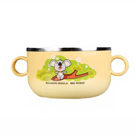 304不锈钢碗宝乐汤饭碗儿童碗防滑防烫隔热儿童餐具/大号