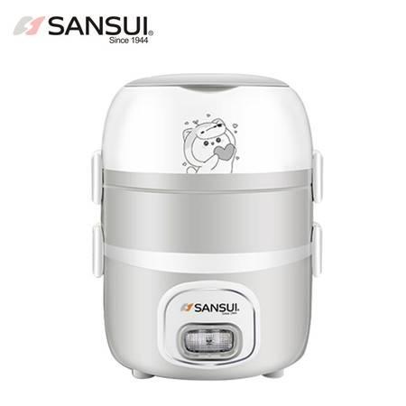 山水(SANSUI)三层电热饭盒上班族热饭器加热饭盒250W 食品级不锈钢内胆 F06