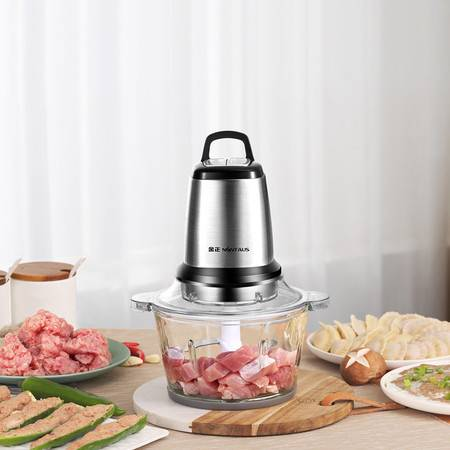 金正/NINTAUS 绞肉机 两档调节大容量搅拌机蒜泥器料理机 玻璃碗双刀头JZM-JR216