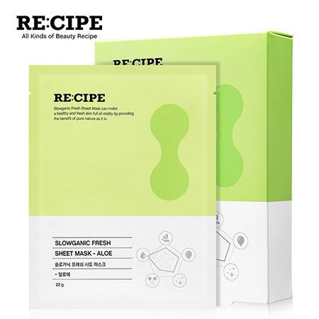 玥之秘/RECIPE 水果面膜10片装 补水保湿舒缓肌肤男女敏感肌适用