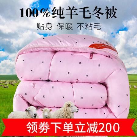 【金秋特惠领劵立减200】乔森家纺 高档高温水洗除菌羊毛被