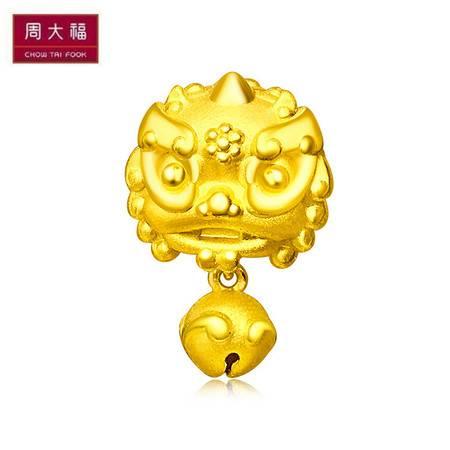 周大福首饰祥瑞小神兽转运珠足金黄金吊坠R20916
