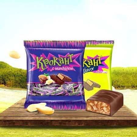 KDV俄罗斯进口紫皮糖kpokaht巧克力糖花生糖正品喜糖结婚零食糖果