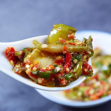 2瓶 湖南特产彩椒榨菜拌面拌饭开胃下饭菜农家自制剁椒酱腌菜香辣