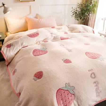 毛毯被子空调毯沙发盖毯珊瑚绒小毯子法兰绒铺床单人办公室午睡毯