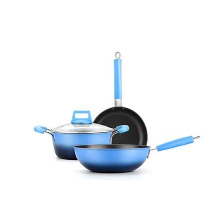 荣事达/Royalstar 蓝之享锅具三件套(健康少油,高性价比)