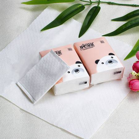【团购】开心朵朵原生竹浆手帕纸30包 小包面巾纸 随身装餐巾纸 便携式卫生纸 纸巾包邮