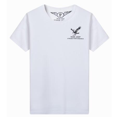 吉普盾   春夏季男士圆领半袖休闲大码打底衫短袖T恤6007