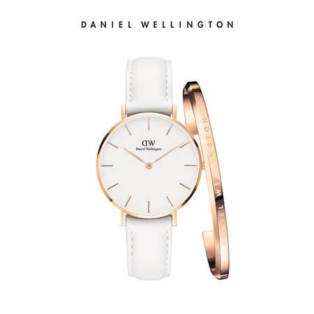 Daniel Wellington DW女表手镯套装 女表DW00100189+小号金手镯