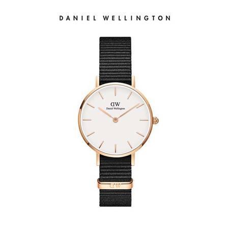 Daniel Wellington DW女表28mm白表盘金色边织纹表带 DW00100251