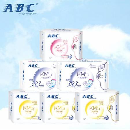 ABC KMS超薄系列 超吸纤薄透气姨妈巾日夜组合38片