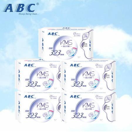 【限时领劵立减10元】ABC KMS棉柔系列卫生巾 超吸纤薄透气姨妈巾夜用加长15片