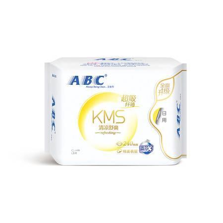 ABC KMS棉柔系列卫生巾 超吸纤薄透气姨妈巾日用48片/240mm*8*6
